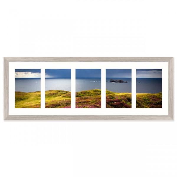 Fotolijst Anima - vijfluik 10x15 cm - lichtgrijs