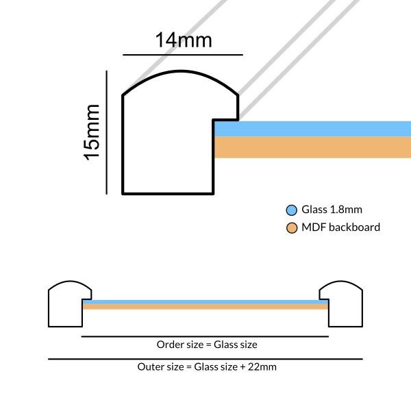 Fotolijst Materia RVS / Staal kleur