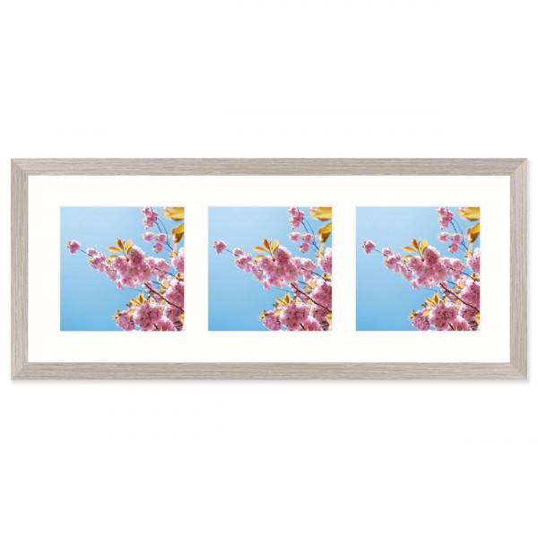 Fotolijst Anima - drieluik 15x15 cm - lichtgrijs