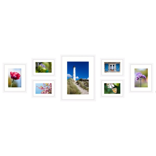 fotomuur wit 7 fotolijsten