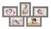 Multi fotolijst - vijf 10x15cm foto's - taupe