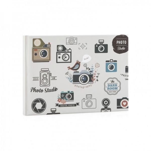 Fotoalbum met fotocamera's - 50 foto's 10x15 / 11x15 cm - model 1325