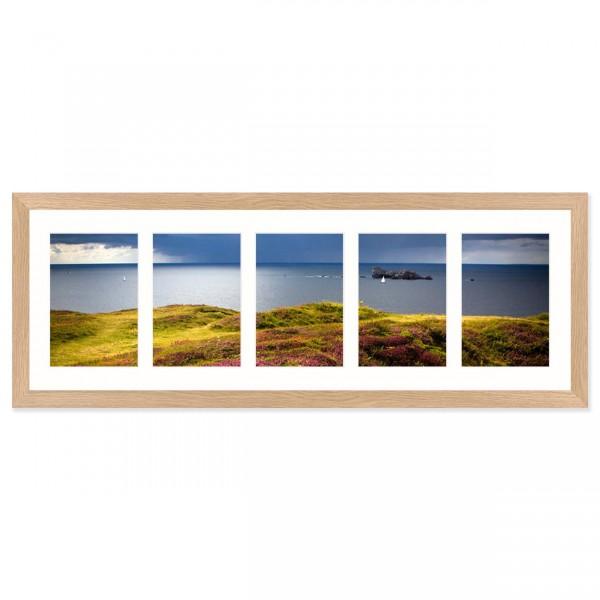 Fotolijst Anima - vijfluik 10x15 cm - essenhout