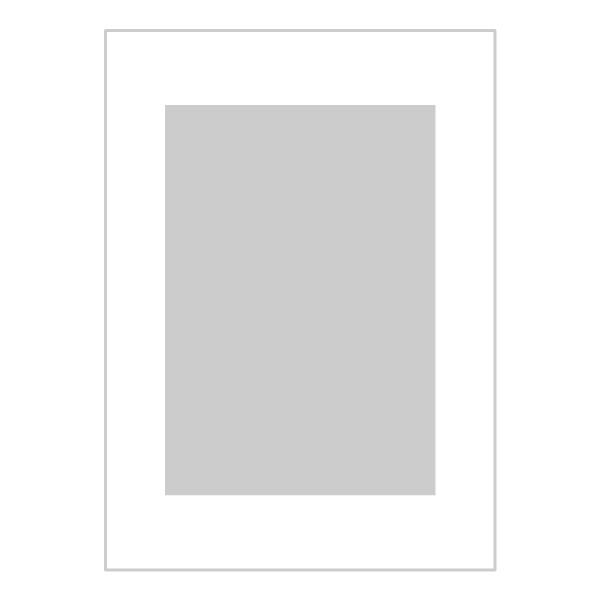 Passe-partout wit - buitenmaat 13x18cm - fotomaat 9x13cm