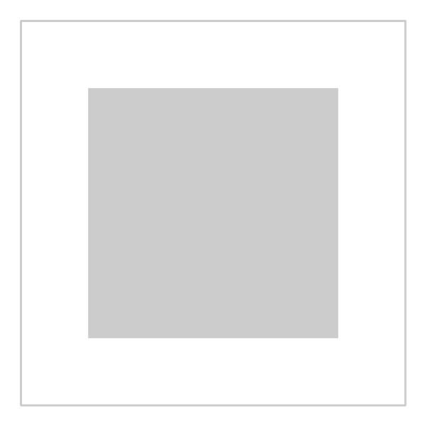 Passe-partout wit - buitenmaat 20x20cm - fotomaat 13x13cm