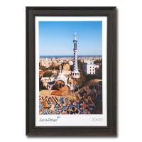 Landelijke fotolijst - Picardie - Zwart / bruin