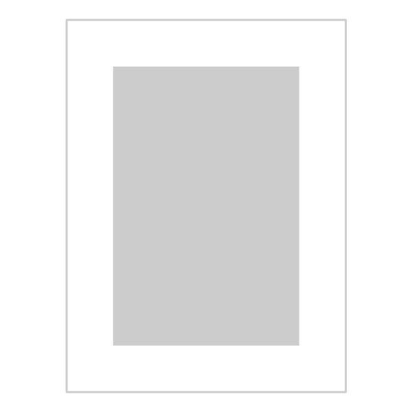 Passe-partout wit - buitenmaat 30x40cm - fotomaat 20x30cm