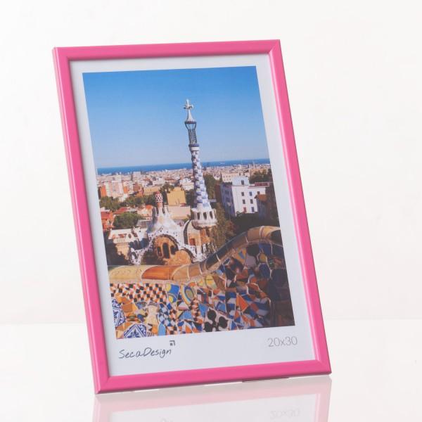 Kunststof fotokader - Iris roze
