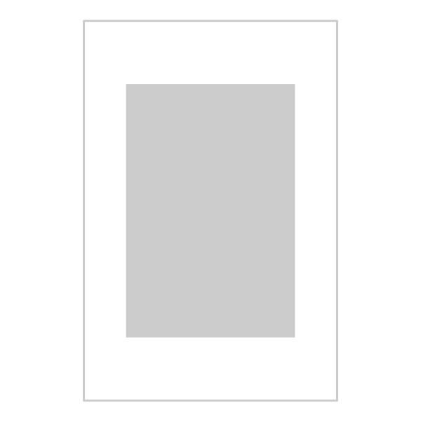 Passe-partout wit - buitenmaat 30x45cm - fotomaat 20x30cm