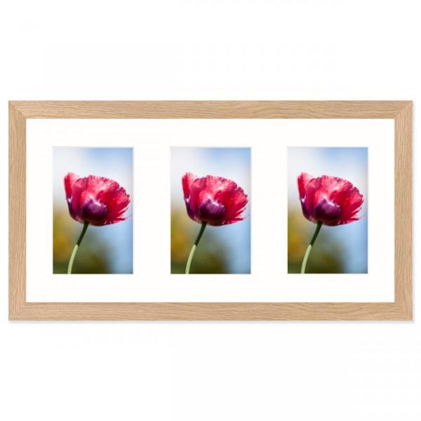 Fotolijst Anima - drieluik 10x15 cm - essenhout