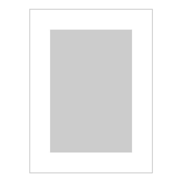 Passe-partout wit - buitenmaat 15x20cm - fotomaat 10x15cm