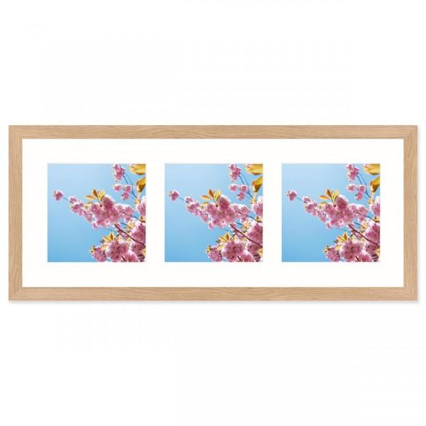 Fotolijst Anima - drieluik 15x15 cm - essen
