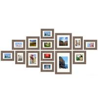 Fotomuur - 14 fotokaders - SecaDesign Forest Gallery 1 - Grijs
