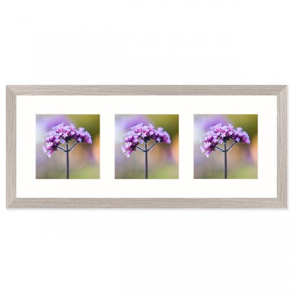 Fotolijst Anima - drieluik 13x13 cm - lichtgrijs