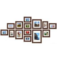 Fotomuur - 14 fotolijsten - SecaDesign Forest Gallery 1 - Bruin