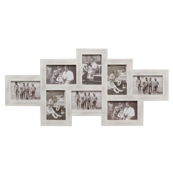 landelijke collage fotolijst wit