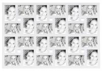 Grote multi fotokader - wit - 24 foto's