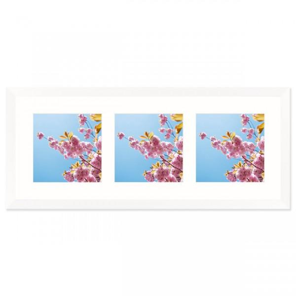 Fotolijst Anima - drieluik 15x15 cm - wit