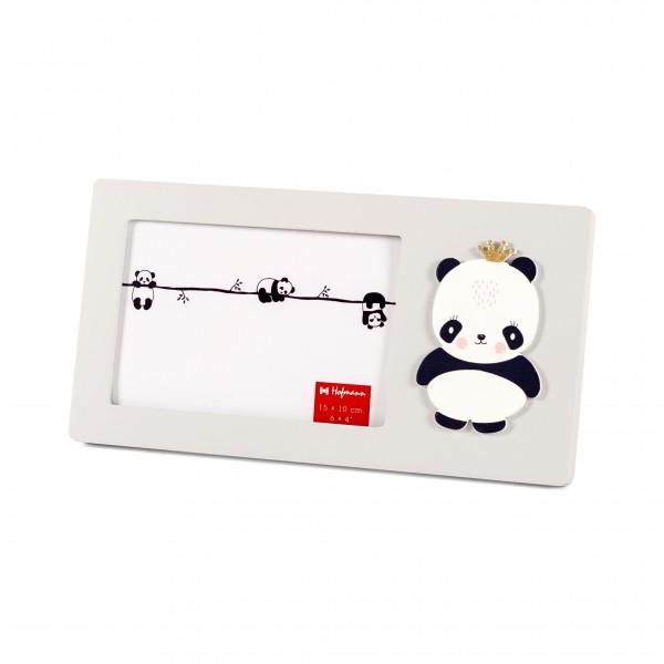 Fotolijst met panda 10x15 - grijs