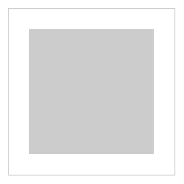 Passe-partout wit - buitenmaat 40x40cm - fotomaat 30x30cm