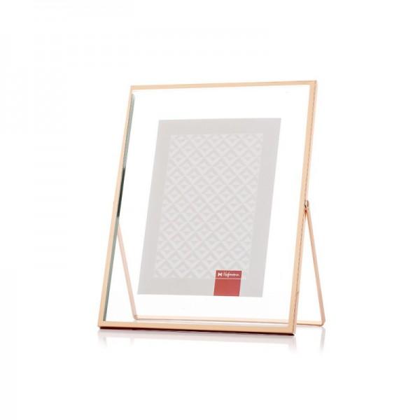 Fotolijst metaal 20x25 cm - rosé goud - model 556