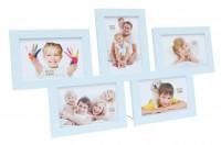 Multi fotolijst - vijf 10x15cm foto's - blauw
