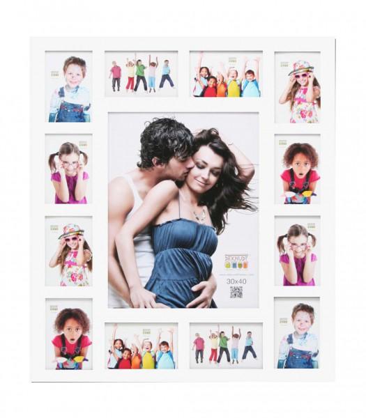 collage multi fotolijst wit