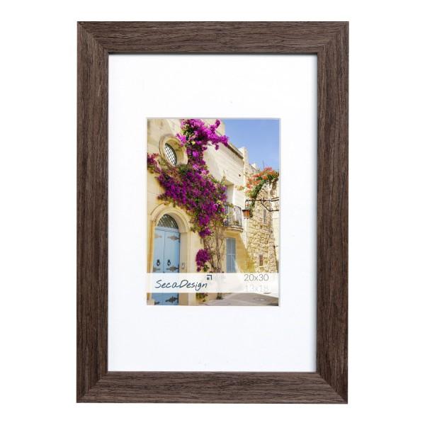 houten fotolijst donkerbruin gefineerd