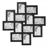 Multi fotolijst - twaalf 10x15cm foto's - zwart