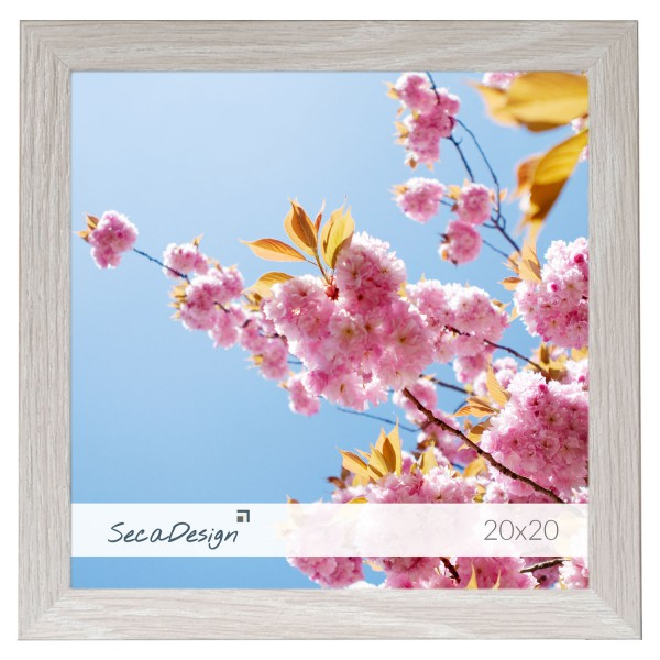 vierkante houten fotolijst Anima lichtgrijs