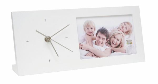 fotoklok 10x15 wit staand