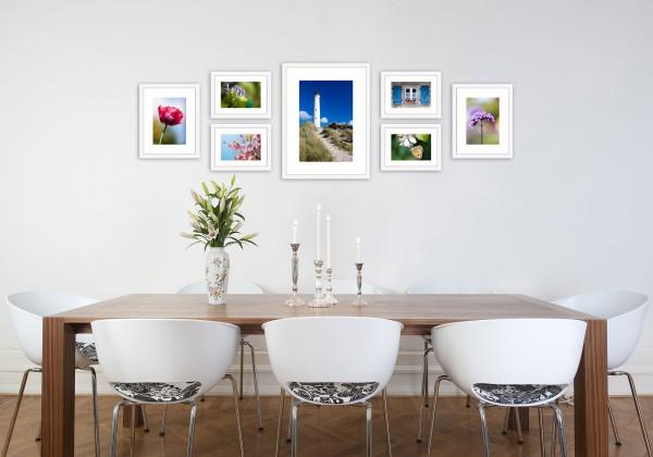 Fotomuur zeven fotolijsten set wit