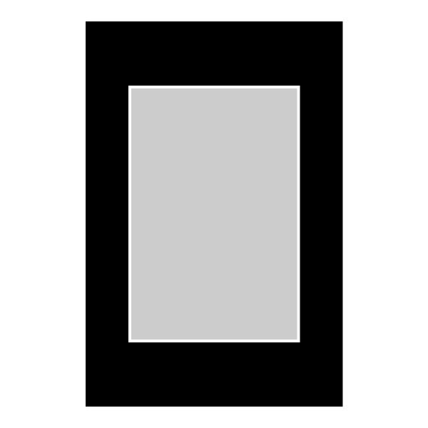 Passe-partout zwart - buitenmaat 30x45cm - fotomaat 20x30cm