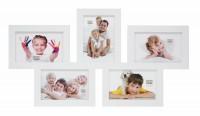 Multi fotokader - vijf 10x15cm foto's - wit
