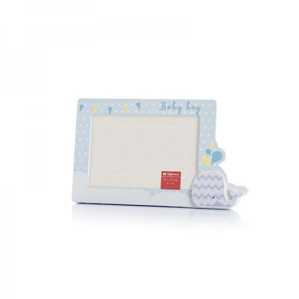 Kinder fotolijst met walvis blauw 10x15 cm - model 424