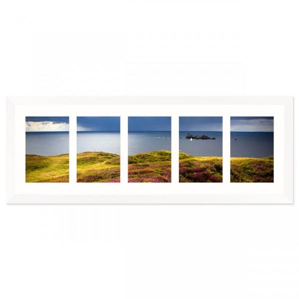 Fotolijst Anima - vijfluik 10x15 cm - wit