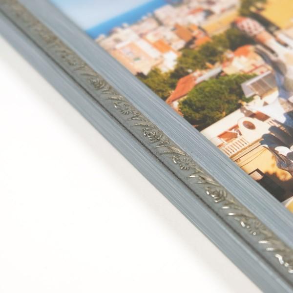 fotolijst blauwgrijs detailfoto