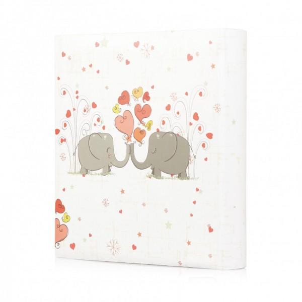 Memo Fotoalbum met olifanten - 200 foto's 13x18 cm achterzijde