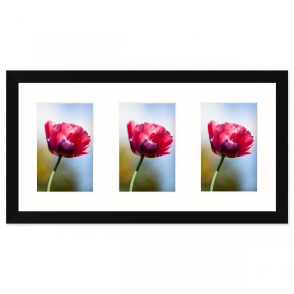 Fotolijst Anima - drieluik 10x15 cm - zwart