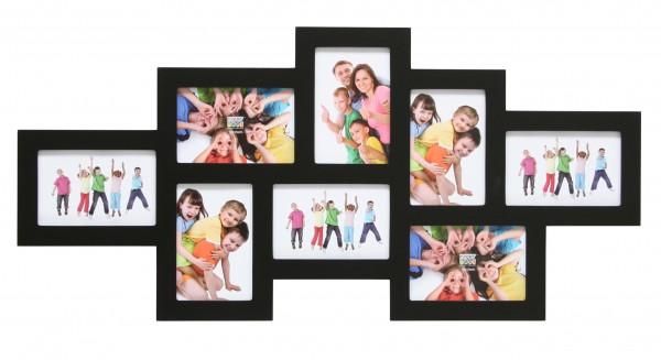 Multi fotolijst - acht 10x15cm foto's - zwart