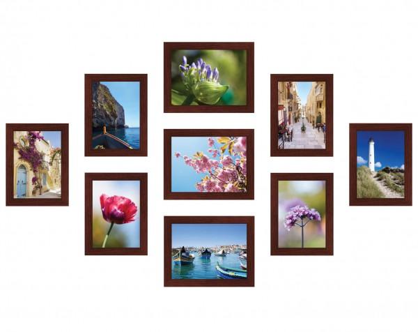 Fotowand Piazza bruin 9 fotolijsten