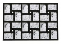 Grote multi fotolijst - zwart - 24 foto's