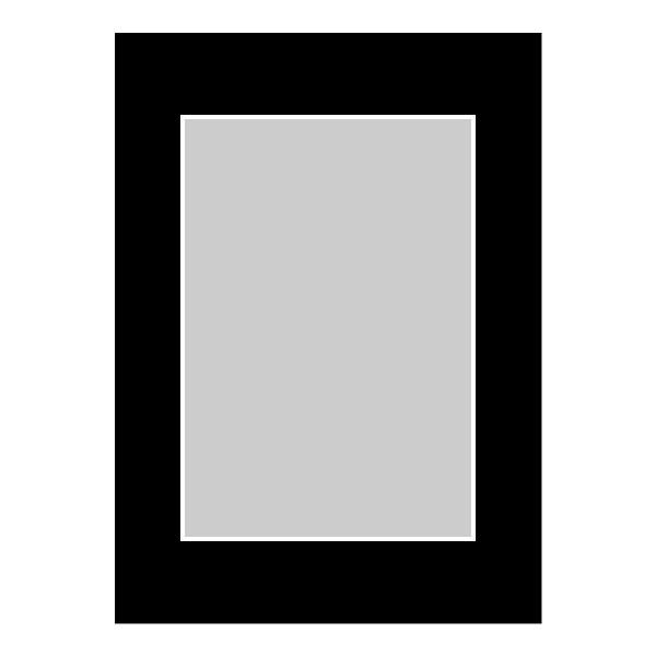Passe-partout zwart - buitenmaat 13x18cm - fotomaat 9x13cm