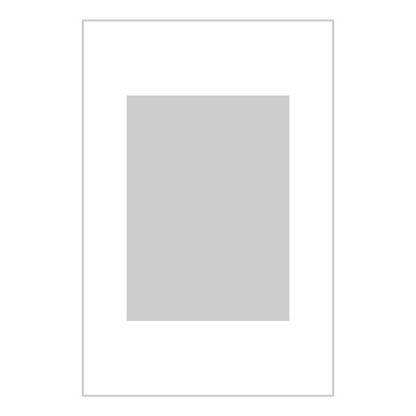 Passe-partout wit - buitenmaat 20x30cm - fotomaat 13x18cm