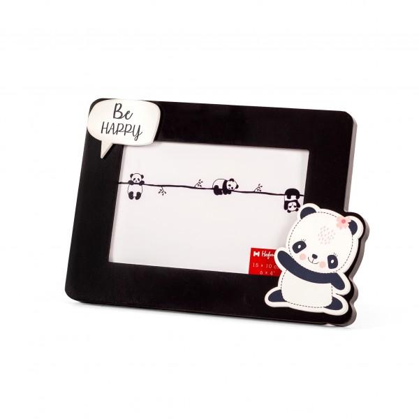 Fotolijst met panda 10x15 - zwart