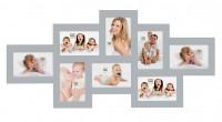 Multi fotolijst - acht 10x15cm foto's - koel lichtgrijs - S65SW6