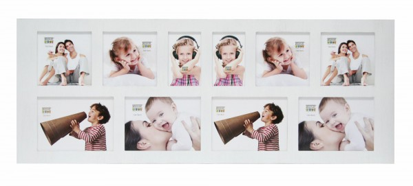 Landelijke multi fotolijst wit