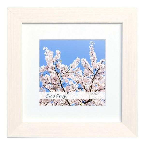vierkante fotolijst wit fino