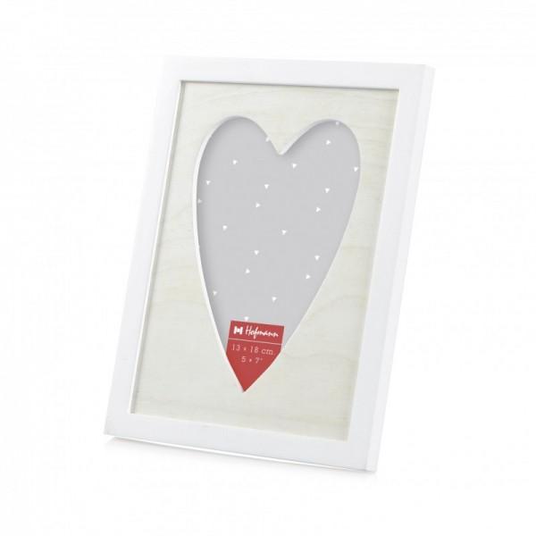 Fotolijst met hartvorm uitsnede - 13x18 cm - Model 327