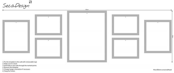 Fotomuur - SecaDesign Gallery 7 fotolijsten - wit